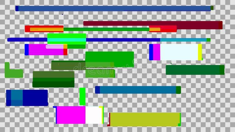Abstrakt digitalt bakgrundsfärgtekniskt fel Teknologidesign och stock illustrationer