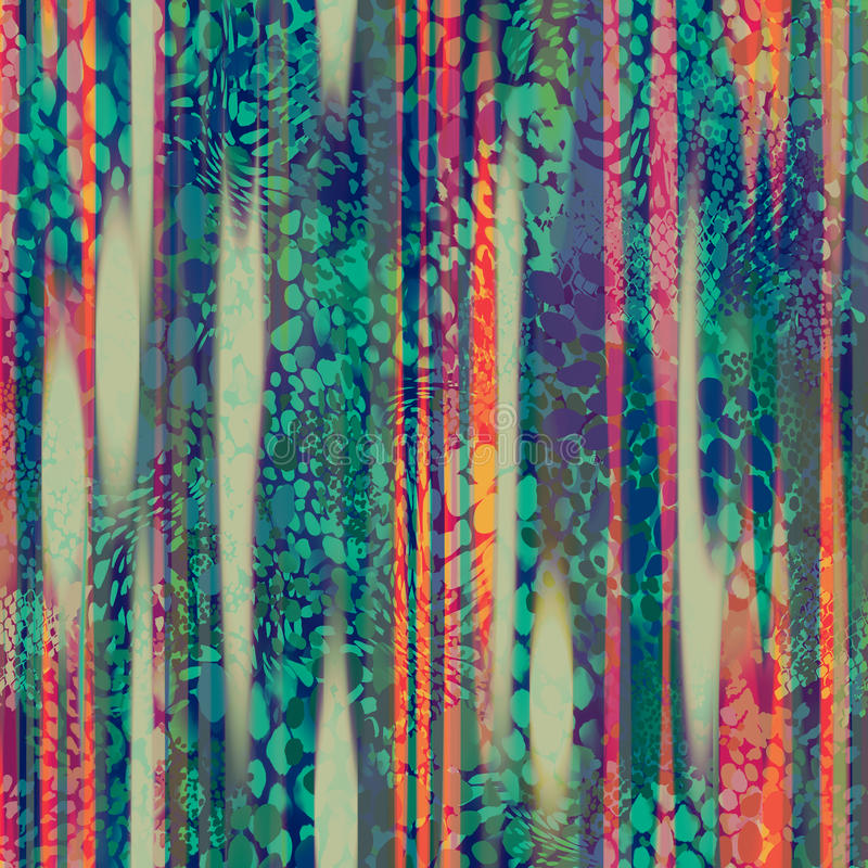 Abstrakt djur bakgrund vektor illustrationer