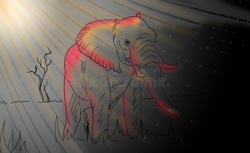 Abstrakt djur med bakgrund stock illustrationer