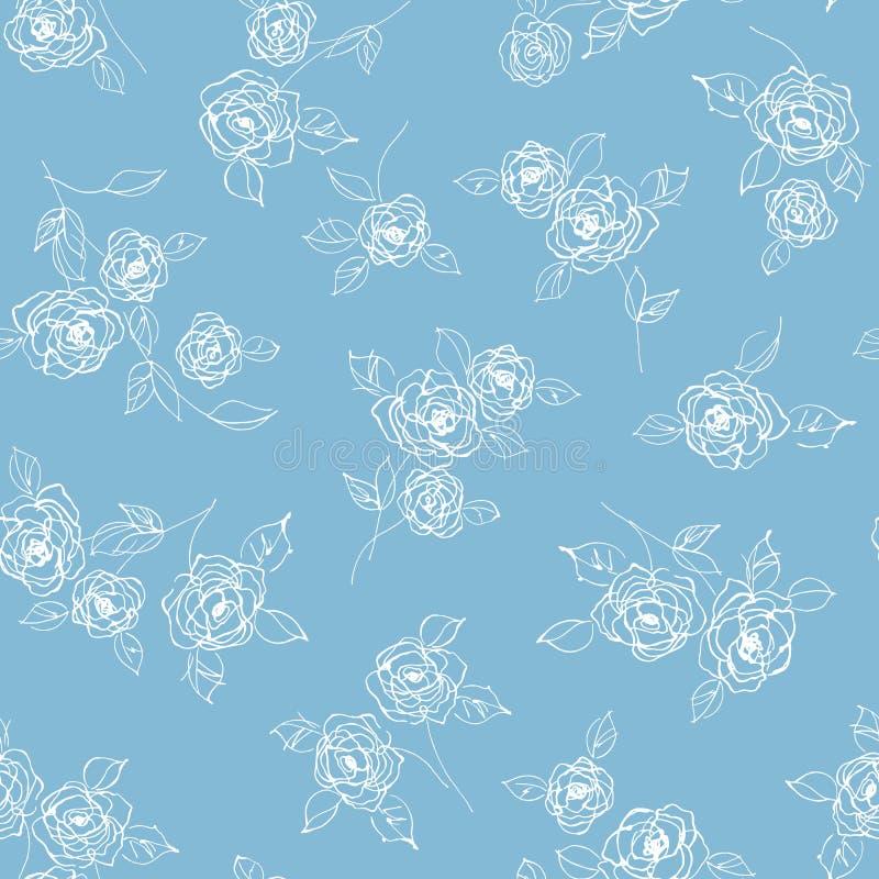 Abstrakt, dosyć był kwiatu bezszwowym wzorem, projektowałem kwiatu abstractly royalty ilustracja