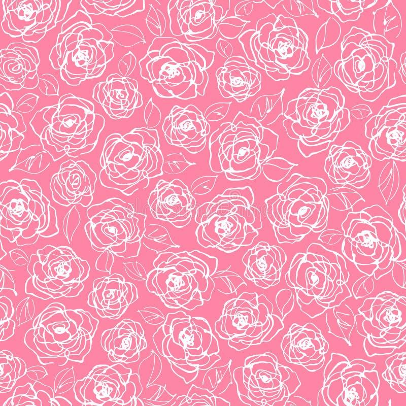 Abstrakt, dosyć był kwiatu bezszwowym wzorem, projektowałem kwiatu abstractly ilustracji