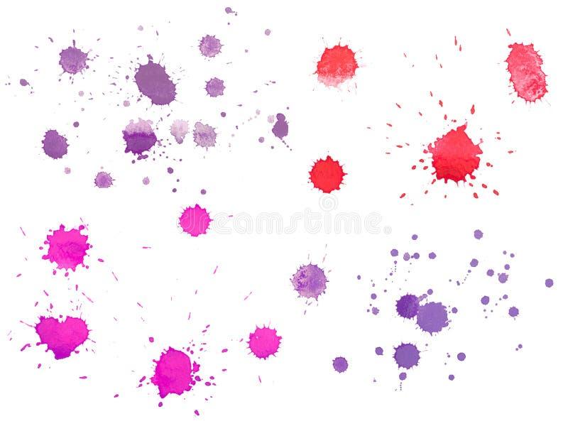 Abstrakt dragit färgrikt för vattenfärgaquarelle hand arkivbilder