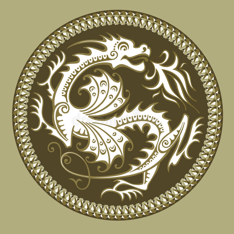 abstrakt drakevektor stock illustrationer