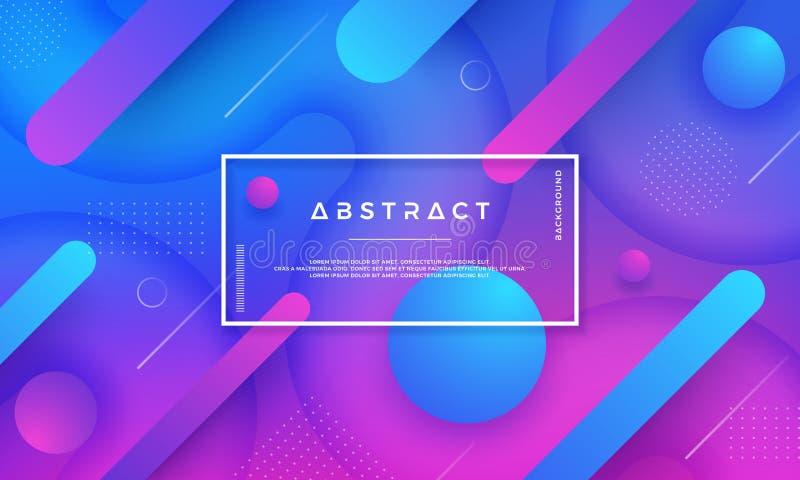 Abstrakt dynamisk färgbakgrundsdesign Moderna moderiktiga futuristiska lutningformer Blå rosa bakgrund Beståndsdel för design EPS stock illustrationer
