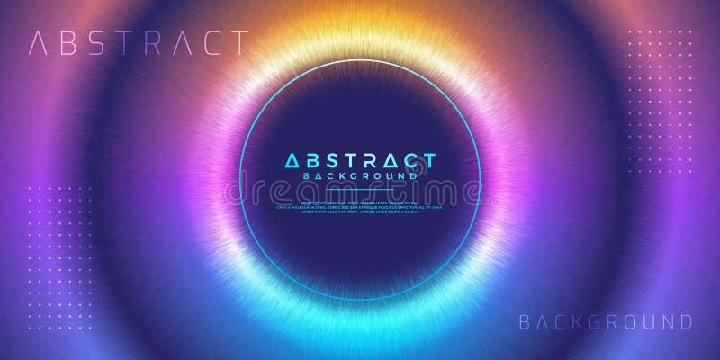 Abstrakt, dynamisk modern cirkelbakgrund för din designbeståndsdel och andra vektor illustrationer