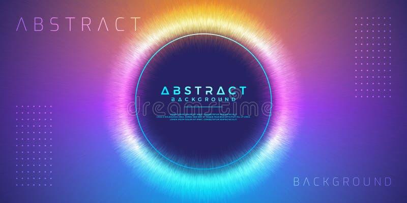 Abstrakt, dynamisk modern cirkelbakgrund för din designbeståndsdel och andra stock illustrationer