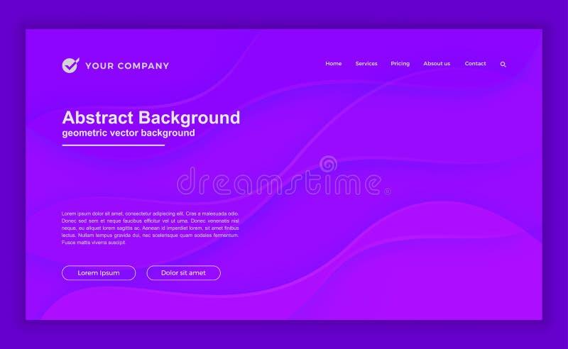 Abstrakt, dynamisk och texturerad purpurfärgad bakgrund för webbsida som landar sidan, websitemallen och andra vektor illustrationer