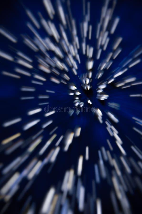 Abstrakt dynamiskt bakgrundsmönster för vita ränder i rymden royaltyfria foton