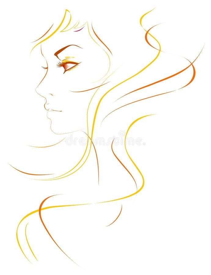 Abstrakt dziewczyna ilustracji