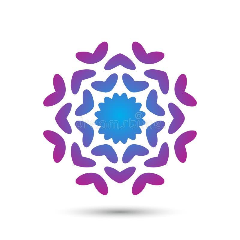 Abstrakt elegant design för vektor för blommalogosymbol Universellt idérikt högvärdigt symbol Behagfullt juvelvektortecken royaltyfri illustrationer