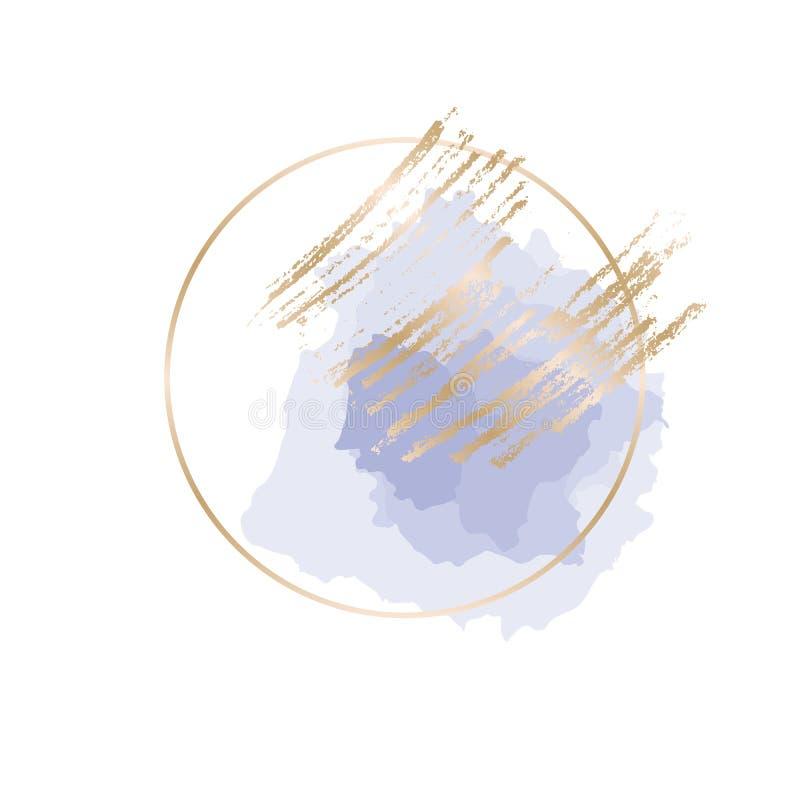 Abstrakt elegant hand dragen designbeståndsdel stock illustrationer