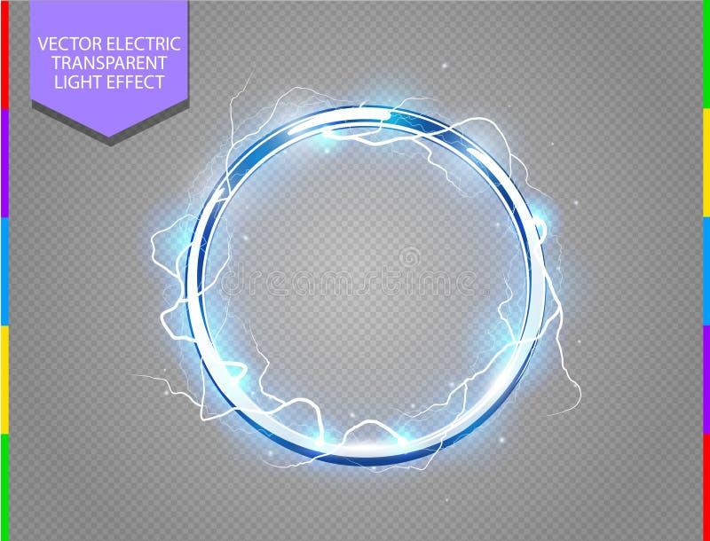 Abstrakt elektrisk cirkelbakgrund vektor illustrationer