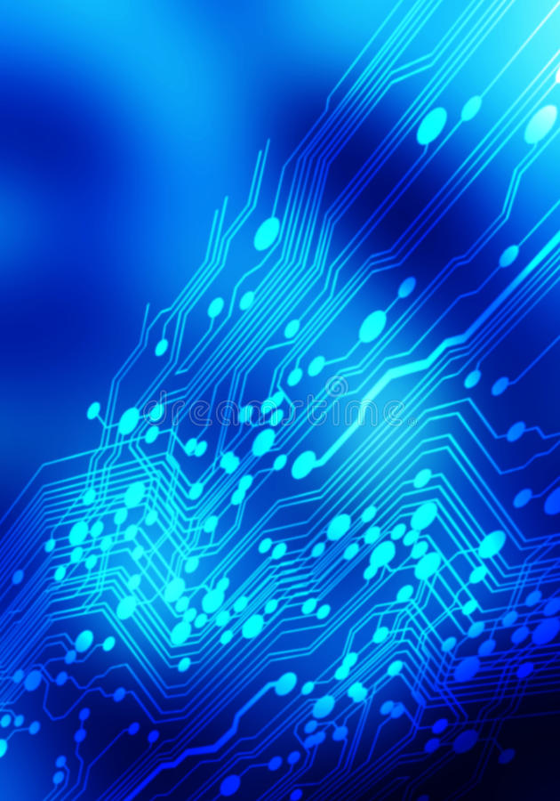 Abstrakt elektronikblåttbakgrund vektor illustrationer