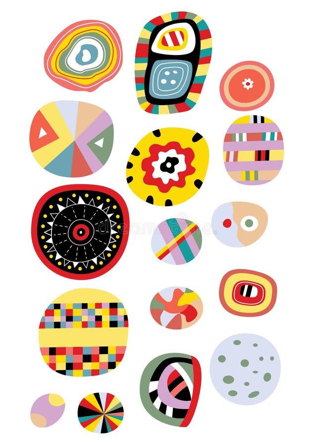 abstrakt elementvektor royaltyfri illustrationer