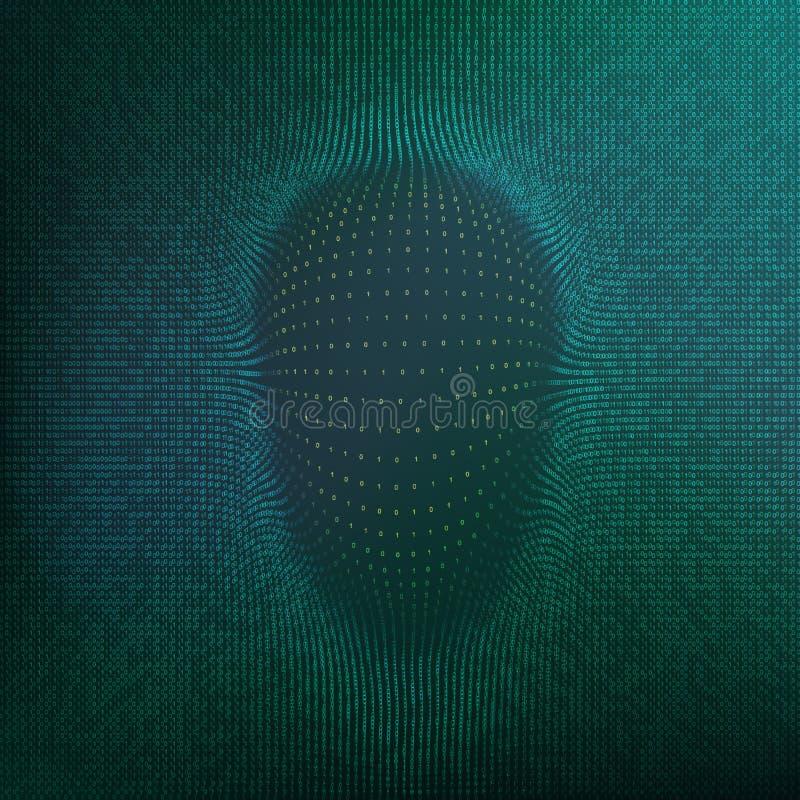 Abstrakt en hackerframsidakontur For för matris Background för datadisks för bakgrund isolerade den cd högen tangent över padlock royaltyfri illustrationer