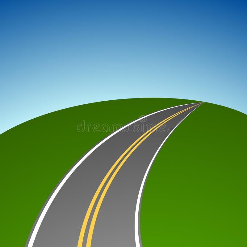 Abstrakt enkel huvudväg stock illustrationer