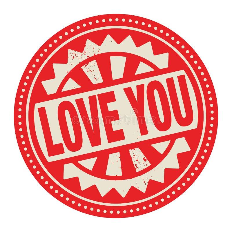 Abstrakt etykietka z tekst miłością lub znaczek Ty pisać inside ilustracji