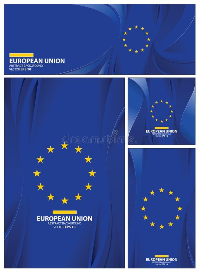 Abstrakt europeisk bakgrund för facklig flagga royaltyfri illustrationer
