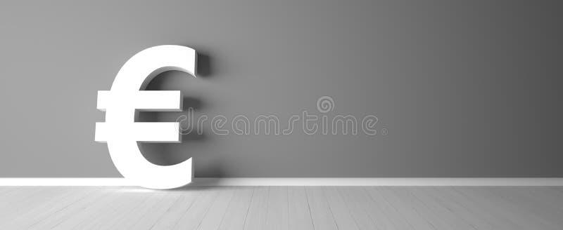 Abstrakt eurosymbol för finanssektorn - illustration vektor illustrationer