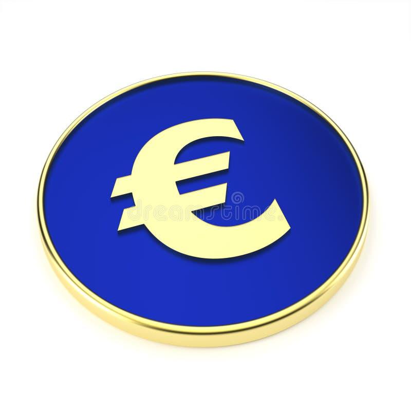 Abstrakt eurosymbol för finanssektorn - illustration stock illustrationer