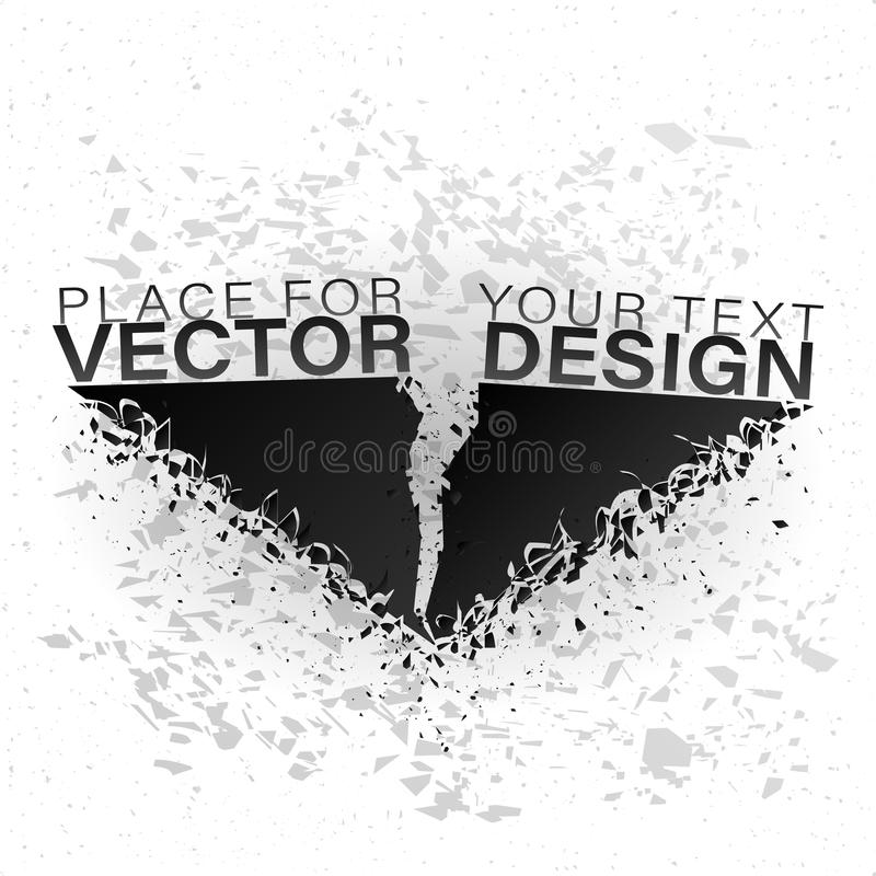 Abstrakt explosion av svart exponeringsglas stock illustrationer