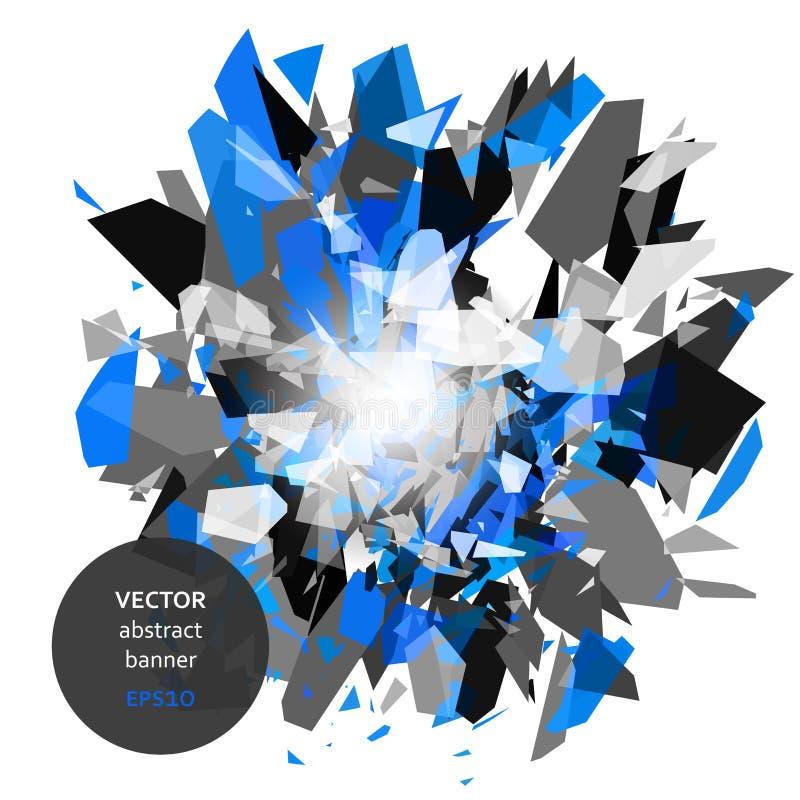 Abstrakt explosionbaner stock illustrationer