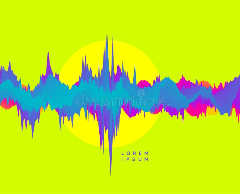 abstrakt extra format för eps för dynamisk effekt för bakgrund 8 Futuristisk teknologistil Stor datagrafvisualization Rörelsevekt stock illustrationer