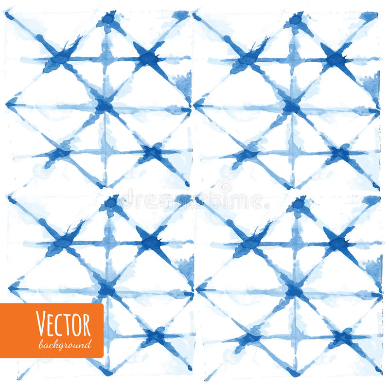 Abstrakt färgade vattenfärgbakgrunder för blått band vektor illustrationer