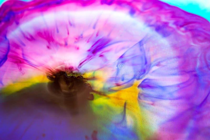 abstrakt färgexplosion i vatten royaltyfria bilder