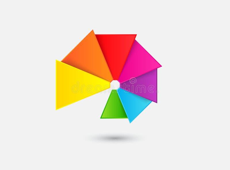 Abstrakt färgfan stock illustrationer