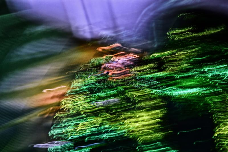 Abstrakt, färglös bakgrund Digital konst Utvandring eller flykt Fara arkivfoto