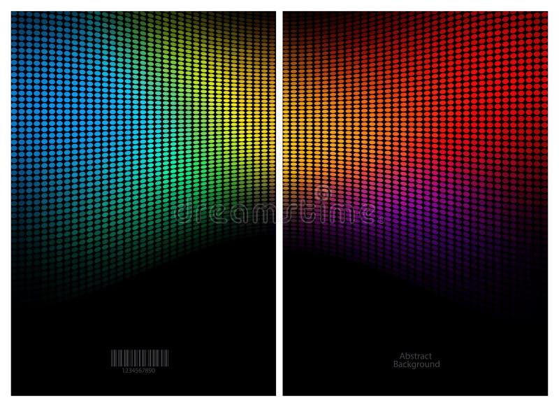 Abstrakt färgmosaikbakgrund vektor illustrationer