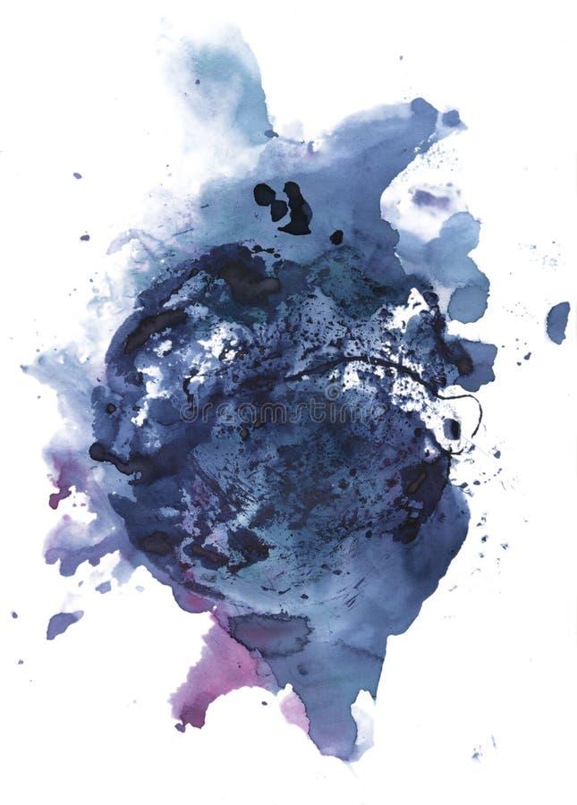 Abstrakt färgpulverfläck