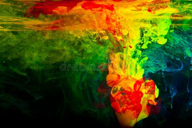 abstrakt färgpulvervatten royaltyfria bilder