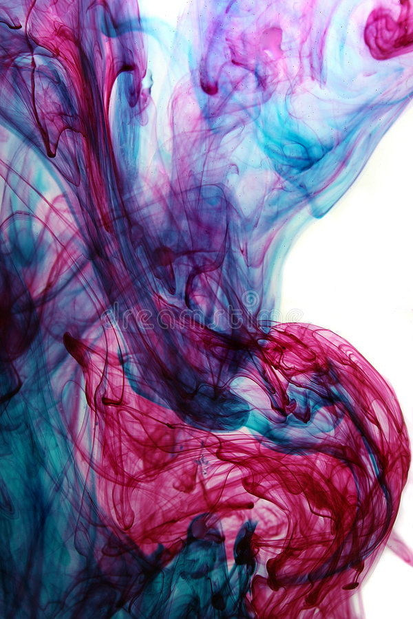 abstrakt färgpulvervatten royaltyfri foto