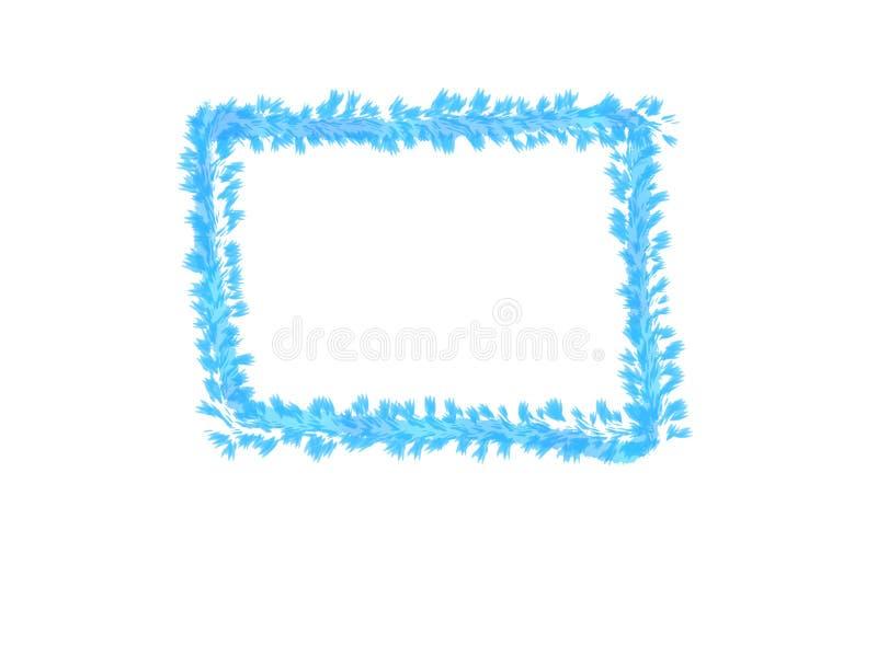 Abstrakt färgpulvervattenfärg, blå sidaram på vit bakgrund med kopieringsutrymme för baner eller logo vektor illustrationer