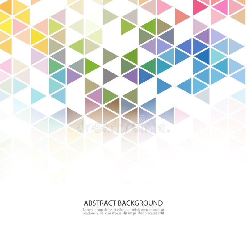 Abstrakt färgrik överlappande geometrisk remsa på vit bakgrund Modern mall för affär eller teknologi royaltyfri illustrationer
