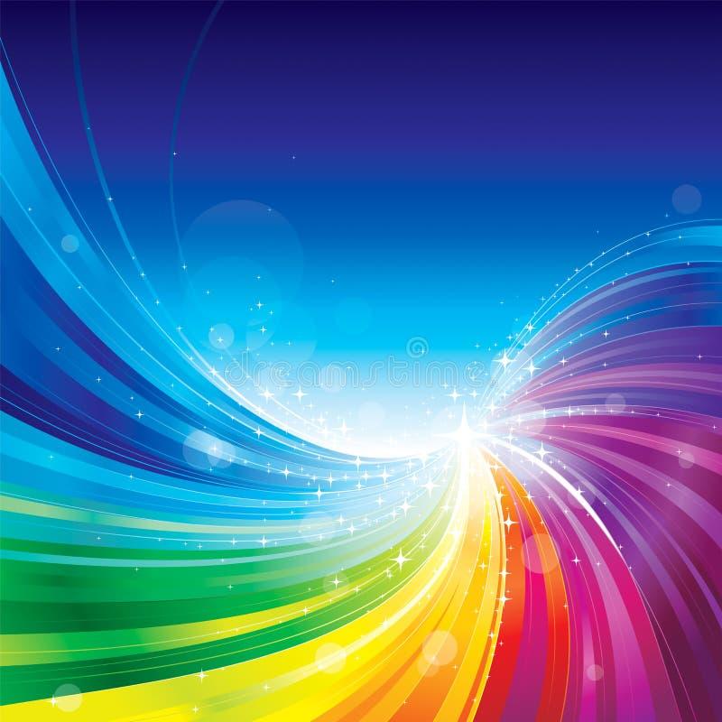 Abstrakt färgrik bakgrund vektor illustrationer