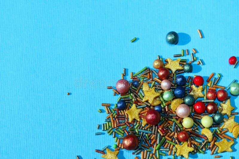 Abstrakt färgrik bakgrund, blåa färger Mat påsk, jul, feriebegrepp royaltyfri bild