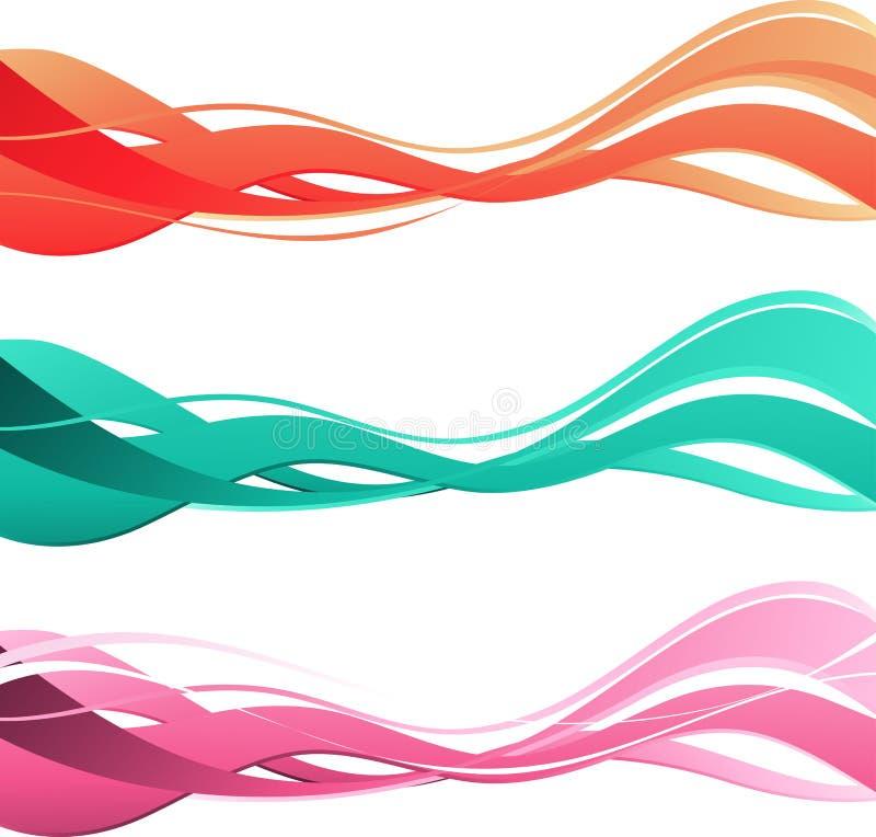 Abstrakt färgrik bakgrund. Färgvåg. royaltyfri illustrationer