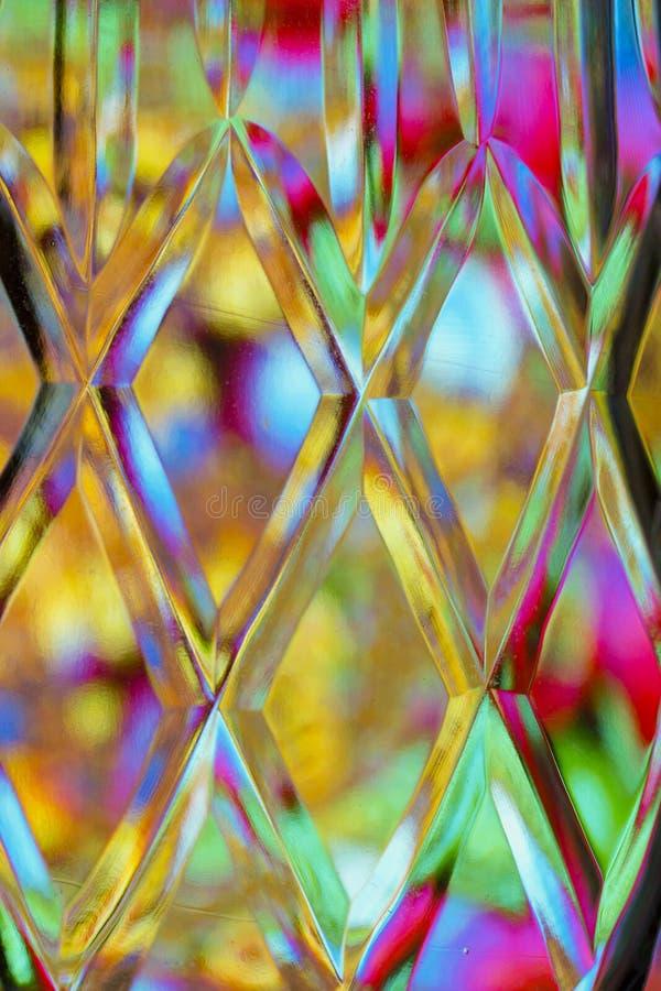 Abstrakt färgrik bakgrund för klippt exponeringsglas stock illustrationer