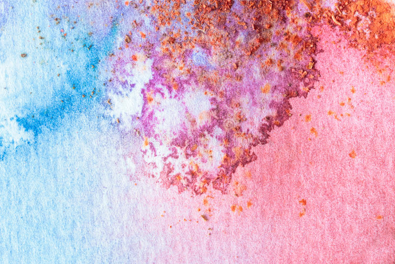 Abstrakt färgrik bakgrund för vattenfärgmakrotextur royaltyfri illustrationer