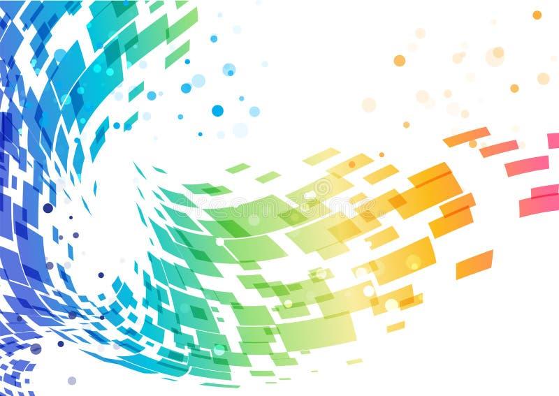 Abstrakt färgrik bakgrund, geometrisk design vektor illustrationer