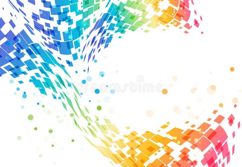 Abstrakt färgrik bakgrund, geometrisk design, techmodell vektor illustrationer