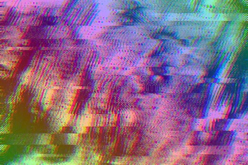 Abstrakt färgrik bakgrund med tekniskt feleffekt för bakgrund arkivfoton