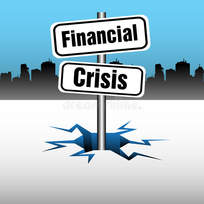 Den finansiella krisen pläterar royaltyfri illustrationer