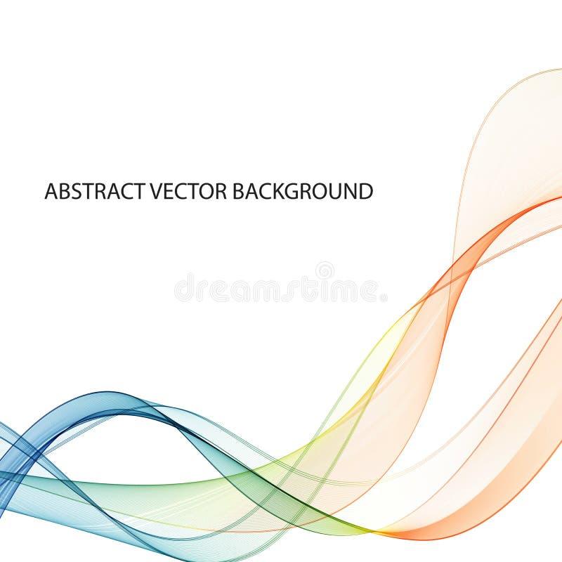 Abstrakt färgrik bakgrund med vågen, vektorillustration 10 eps royaltyfri illustrationer