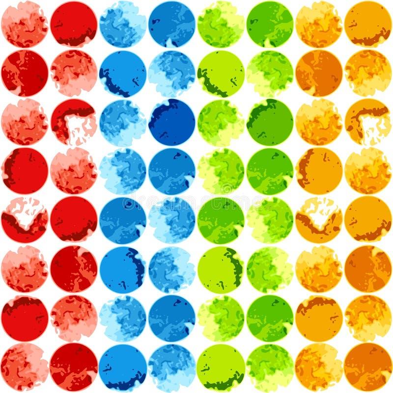 Abstrakt färgrik bakgrundsmall royaltyfri illustrationer