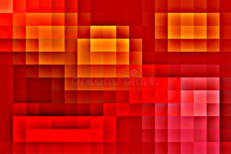 Abstrakt färgrik bakgrundsmosaik royaltyfri illustrationer
