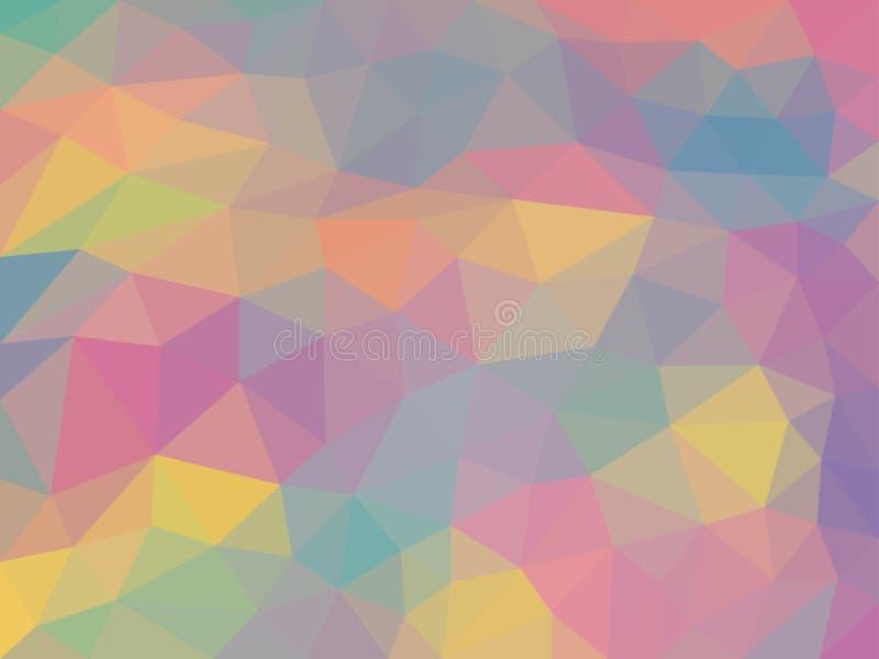 Abstrakt färgrik bakgrundstextur för triangulering vektor illustrationer